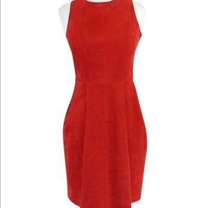 Joie Red Suede Leather Dress